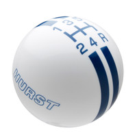 White knob with Dark Blue graphics