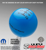 Dodge Challenger B5 Medium Blue shift knob with Black graphics