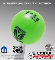 Dodge Ram Go Green shift knob with Black graphics