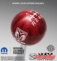 Dodge Ram Red Pearl shift knob with White graphics