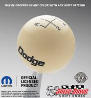 Dodge Vintage Logo Shift Knob with Engraved Shift Pattern