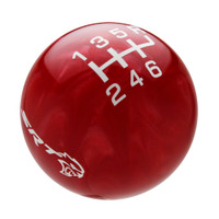 Red Pearl knob with White graphics
