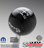 SRT Hellcat Carbon Fiber Finish Shift Knob with White Graphics