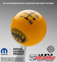 Super Bee Shift Knob Yellow with Black graphics