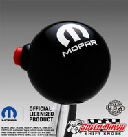 Mopar Logo Black Shift Knob with Line Lock / NOS Button