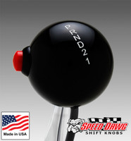 Classic Black / White Automatic Pattern Shift Knob with Line Lock / Nitrous Button