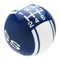 Dark Blue knob with White graphics