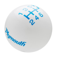 White knob with Grabber Blue graphics