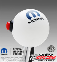 Mopar Logo White Shift Knob with Line Lock / NOS Button