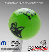 Scat Pack Shift Knob Go Green with Black graphics