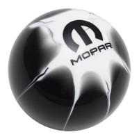 Mopar Logo Black White Splash Shift Knob