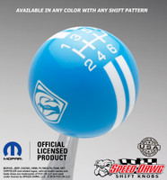 Grabber Blue knob with White graphics