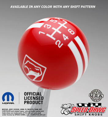 Dodge Viper Sneaky Pete Shift Knob Red with White graphics