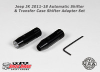 Jeep JK 2011-18  Automatic Shift Knob and Transfer Case Adapter Set