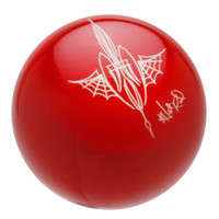 Red Pinstriped Spider Web Shift Knob by Von Hot Rod