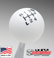 White / Black Pro Series Truck Shift Knob