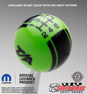 Go Green T/A Logo shift knob with Black graphics
