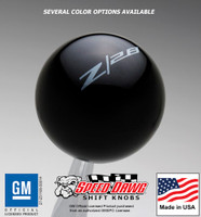 Black knob with Pearl Gray graphics
