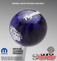 Purple Pearl knob with White graphics