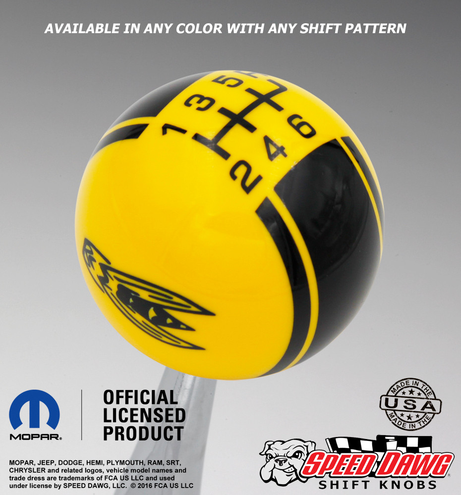 Yellow Jacket Logo Racing Stripe Shift Knob