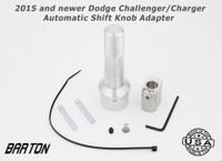 Barton 2015 and newer Dodge Challenger / Charger Automatic Shift Knob Adapter with Brushed Aluminum Finish