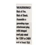 Fixture Warning Label