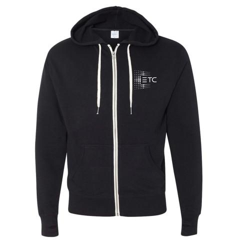ETC French Terry Zip Hoodie - Black