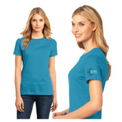 ETC T-shirt - Women's Scoop neck - Turquoise