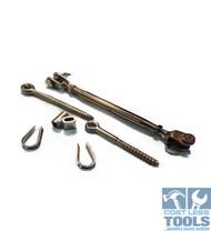 Stainless Steel Balustrade 10 Pack Kit - Bottlescrew/swage/thimble/screw eyes