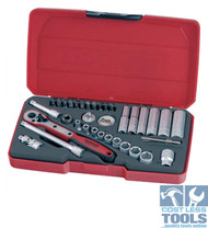 "Teng 36 Piece 1/4"" Metric Socket Set - T1436"
