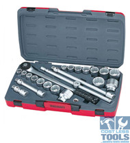 "Teng 3/4"" Drive 22 Piece Metric/AF Socket Set - T3422S"