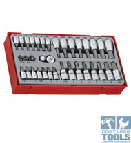 Teng Tools 35 piece 1/4? and 3/8? drive Bit Socket Set TTBS35