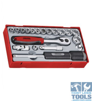 "Teng Tools 19 Pce 3/8"" Dve Socket Set TT3819"