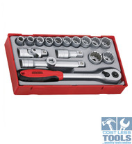 "Teng Tools 18 piece 1/2"" Dve Socket Set TT1218"
