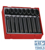 "Teng Tools 16 pce 1/2"" dve Regular & Deep Impact Socket Set TT9116"