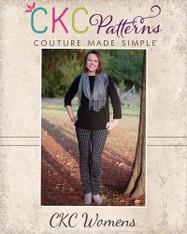 Risa's Ruched Bow Leggings Sizes XS to XL Women PDF Pattern