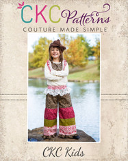 Channing's Tiered Pants Sizes 6/12m to 8 Girls PDF Pattern