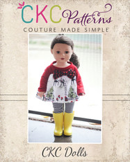 Audrey's Doll Knit and Woven Dress and Top PDF Pattern