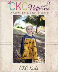 Audrey's Knit and Woven Dress and Top Sizes NB to 8 Girls PDF Pattern