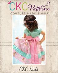 Callahan's Ruched Stripwork Peasant Dress Sizes NB to 15/16 Girls PDF Pattern