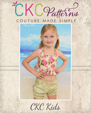 Delilah's Cotton Sunsuit/Bathing Suit Sizes 6/12m to 8 Kids PDF Pattern