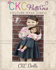Kimber's Circle Dress Doll Sizes PDF Pattern
