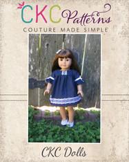 Kyra's Doll V-Back Top and Dress PDF Pattern