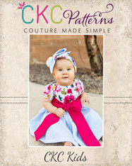 Belinda's Button-Down Peasant Dress Sizes 6/12m to 8 Kids and Dolls PDF Pattern