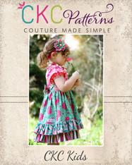 Elena's Twirly Peasant Dress Sizes 12/18m to 8 Kids and Dolls PDF Pattern
