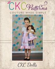 Molly's Faux Apron Peasant Dress Dolls Sizes PDF Pattern