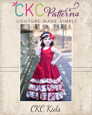 Alejandra's Ruffled Maxi Dress Sizes 6/12m to 8 Girls PDF Pattern