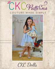 Alexah's Asymmetrical Dress and Maxi Doll Sizes PDF Pattern