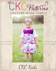 Bree's Blissful Pocket Top and Dress Sizes 6/12m to 8 Girls PDF Pattern