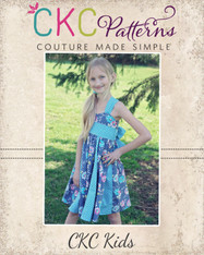 Gwen's Sweetheart Godet Dress Sizes 6/12m to 8 Kids PDF Pattern